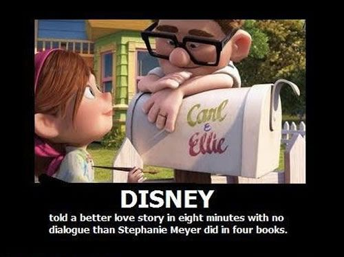 Better Love Story in Pixar's UP than in Meyer's Twilight Saga