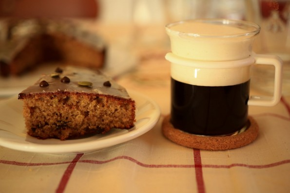torta al caffè e irish coffee