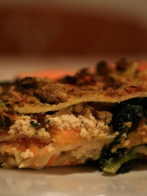 lasagna vegana alla zucca