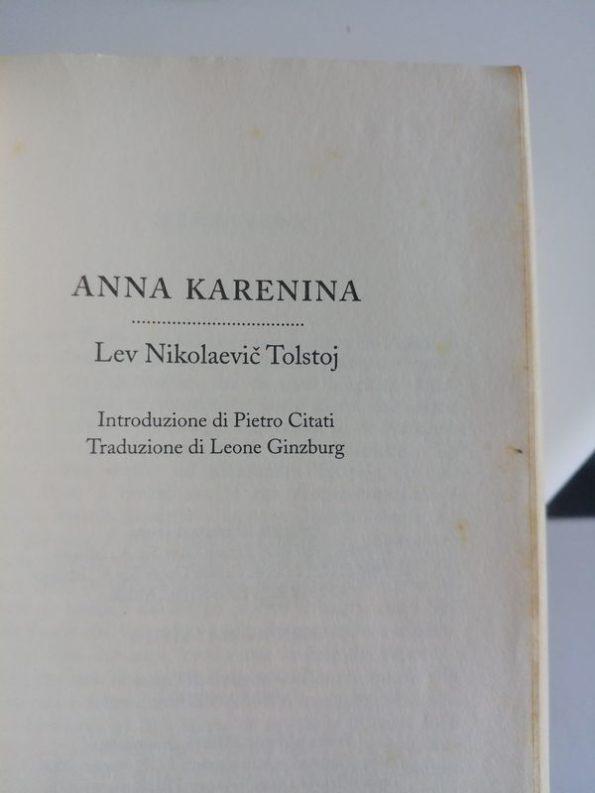 La mia vetusta copia di Anna Karenina