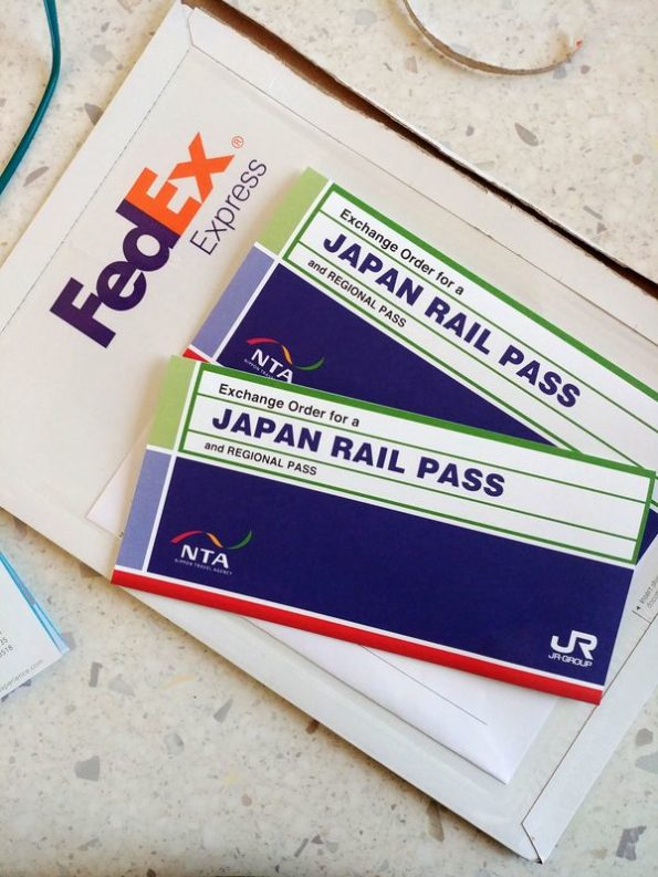 Voucher del Japan Rail Pass acquistato online da scambiare in Giappone
